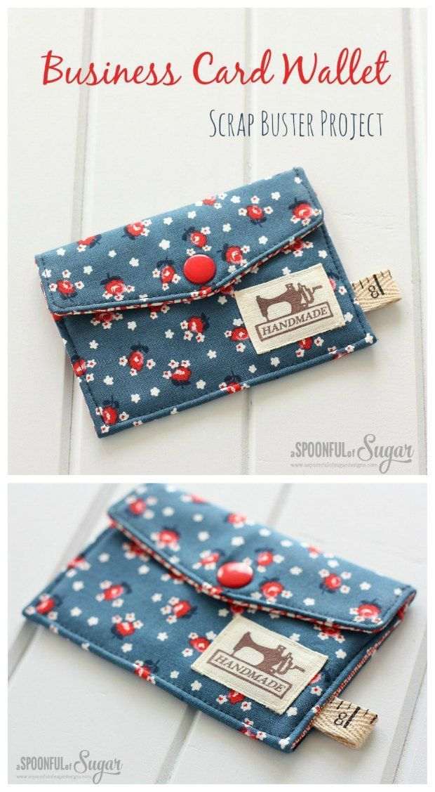 Business card wallet - free tutorial & pattern - Sew Modern Bags