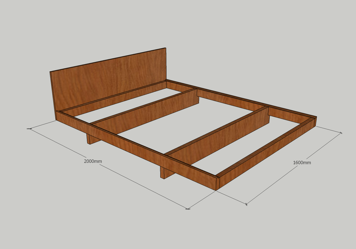 Kyoto Minimalist Bed Plan Standard Mattress Size Minimalist Bed Bed Furniture Design Bedroom Closet Design