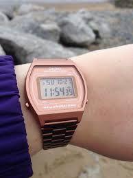 Reloj casio cobre para mujer