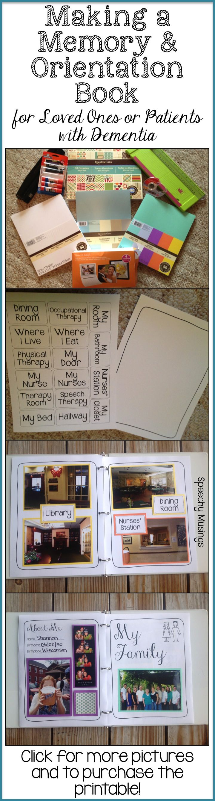 Speechy Musings: A how-to post on how to make a memory and orientation post! Includes a printable you can purchase to easily make your own!