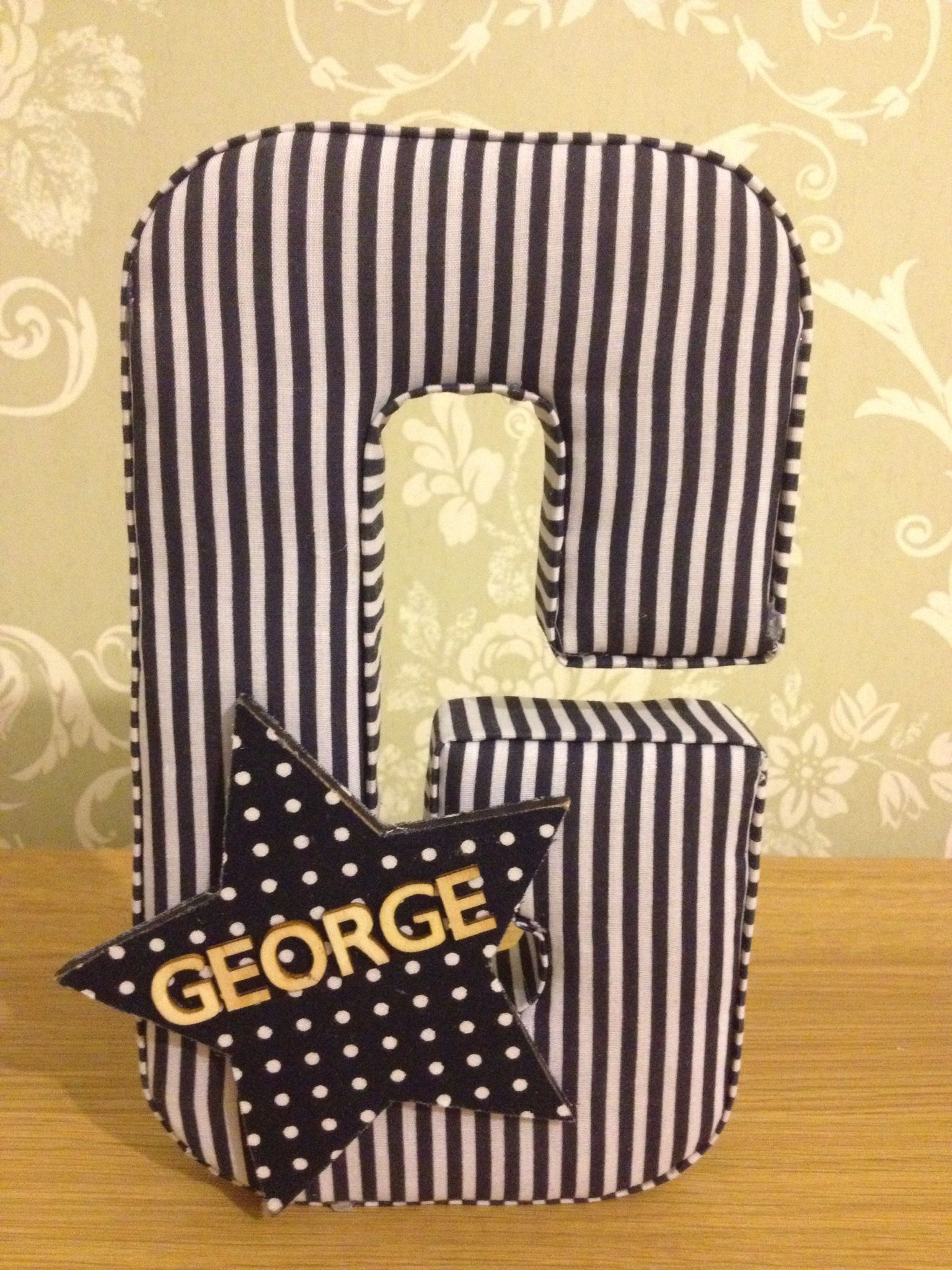 Handmade fabric for Fabric covered letters