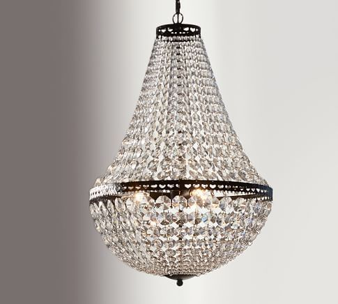Mia Faceted Crystal Flush Mount Pottery Barn Lighting