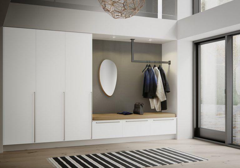16 Elegant Scandinavian Hallway Designs That Can Improve Your Home Huis Interieur Thuisdecoratie Hal Kast