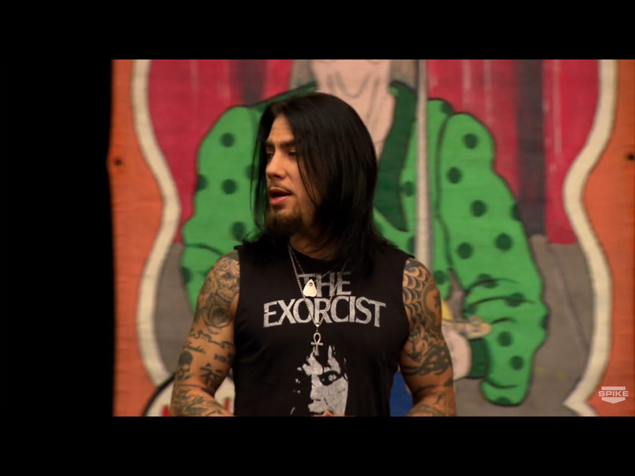 Check it out! Dave Navarro in front of one of the first
