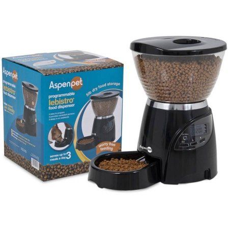 Aspen Pet Lebistro Programmable Food Dispenser 30 Cup 10lb