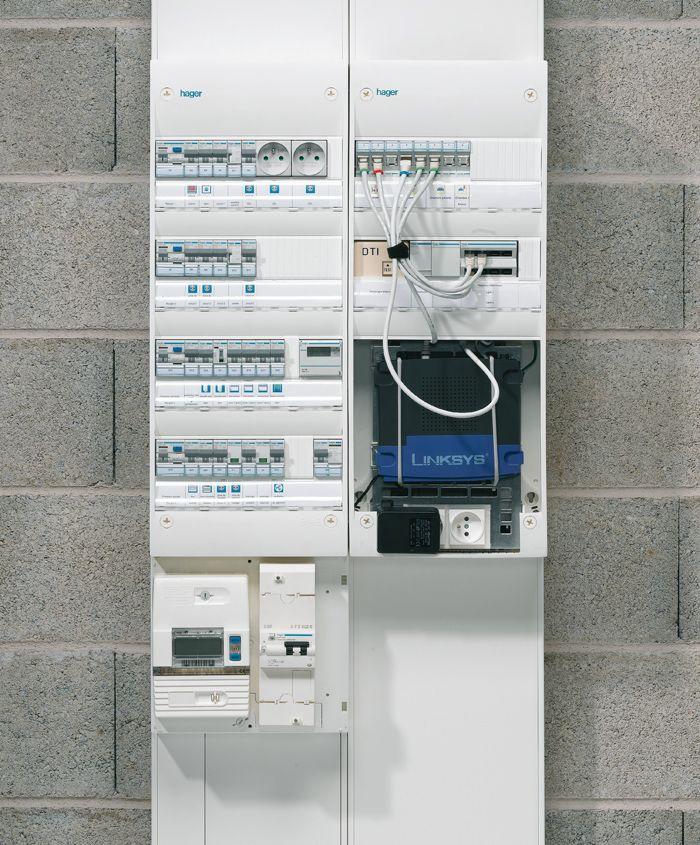 Hager tableau lectrique communication et gtl for Installation electrique maison pour les nuls