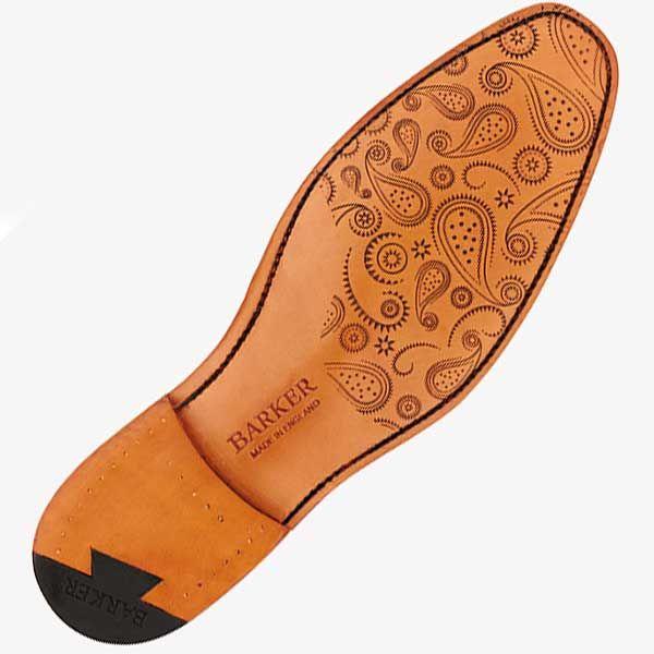 Barker Shoes - McClean - Cedar Calf & Paisley Laser