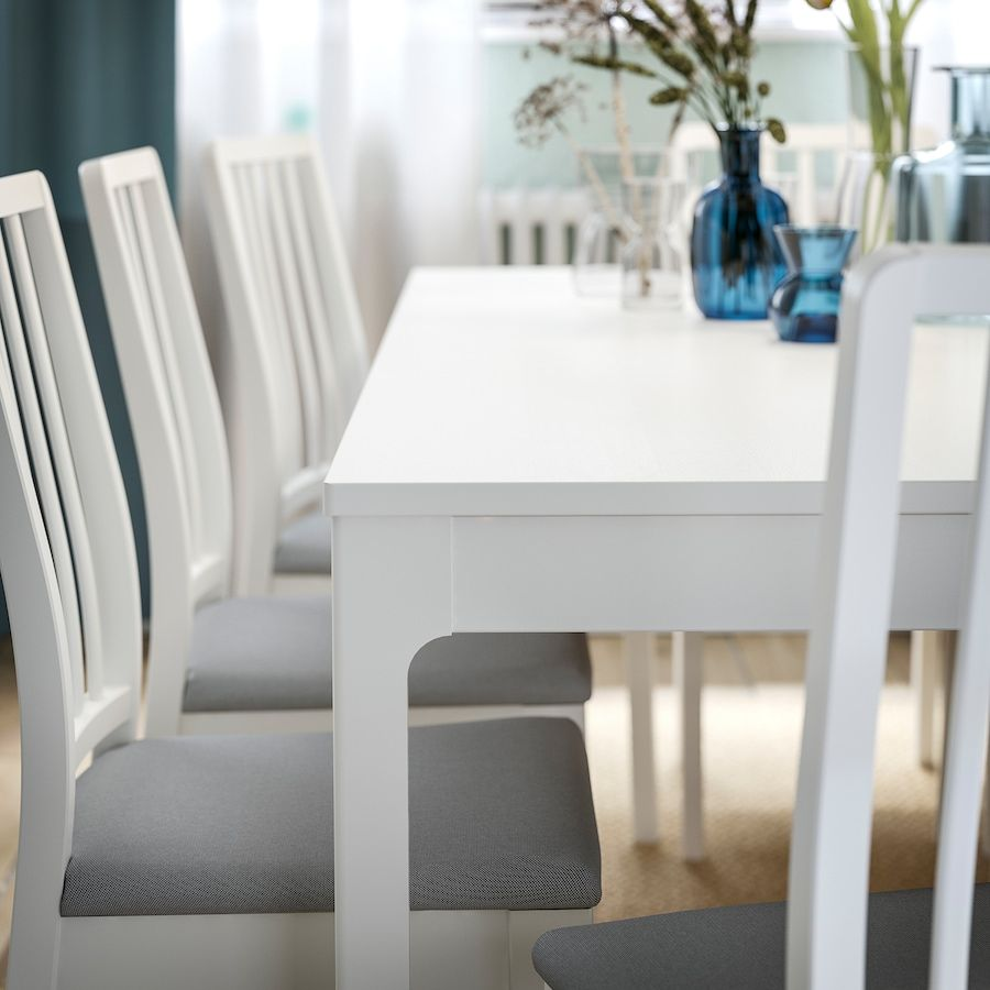 Ikea Tavolo Quadrato Allungabile.Ikea Ekedalen Extendable Table White Nel 2020 Tavolo
