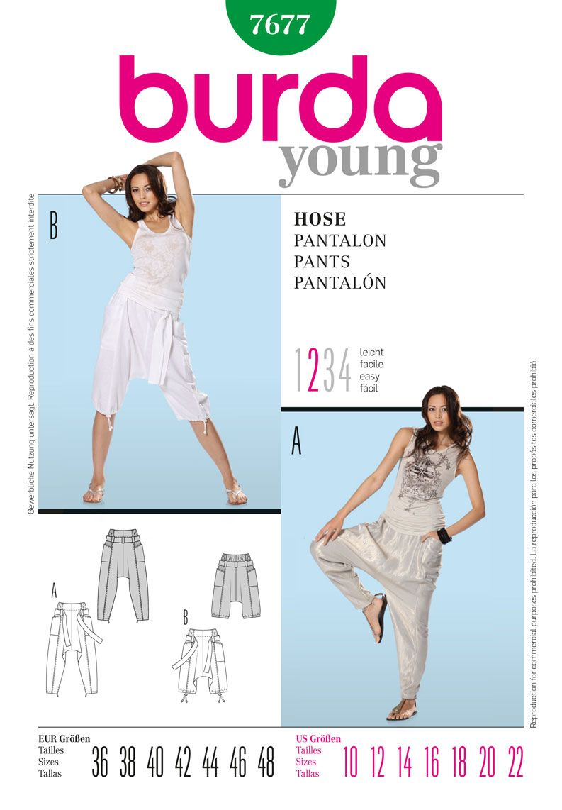 Burda Young Sleeveless Dress /& Tunic Dress Fabric Sewing Pattern 7390