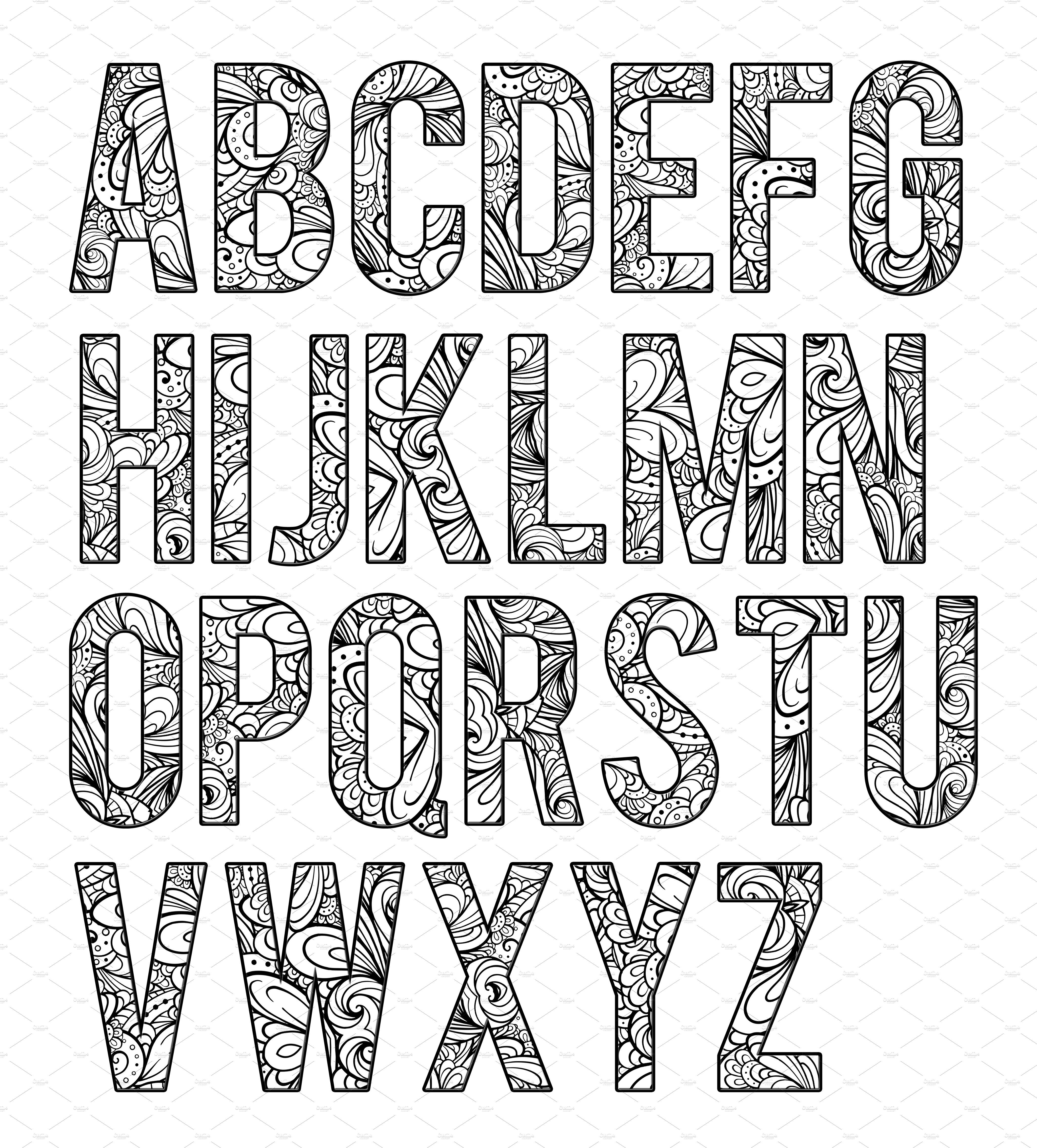 Coloring Letters Of The Alphabet B2 Lettering Alphabet Doodle Art Letters Coloring Letters