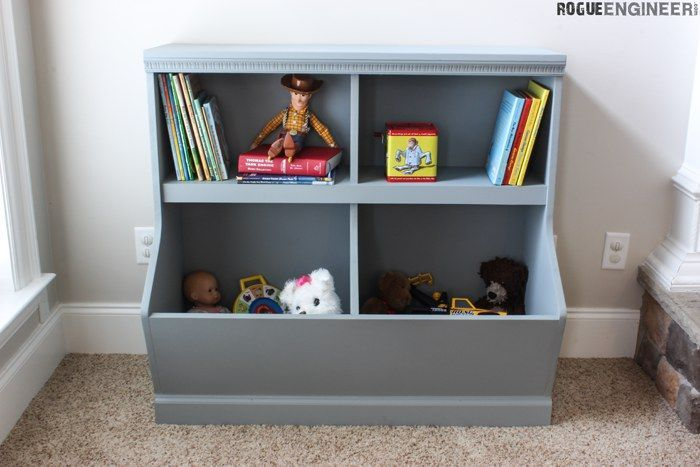 Bookcase With Toy Storage With Images Diy Toy Storage Diy Toy Box Plans Toy Storage Shelves