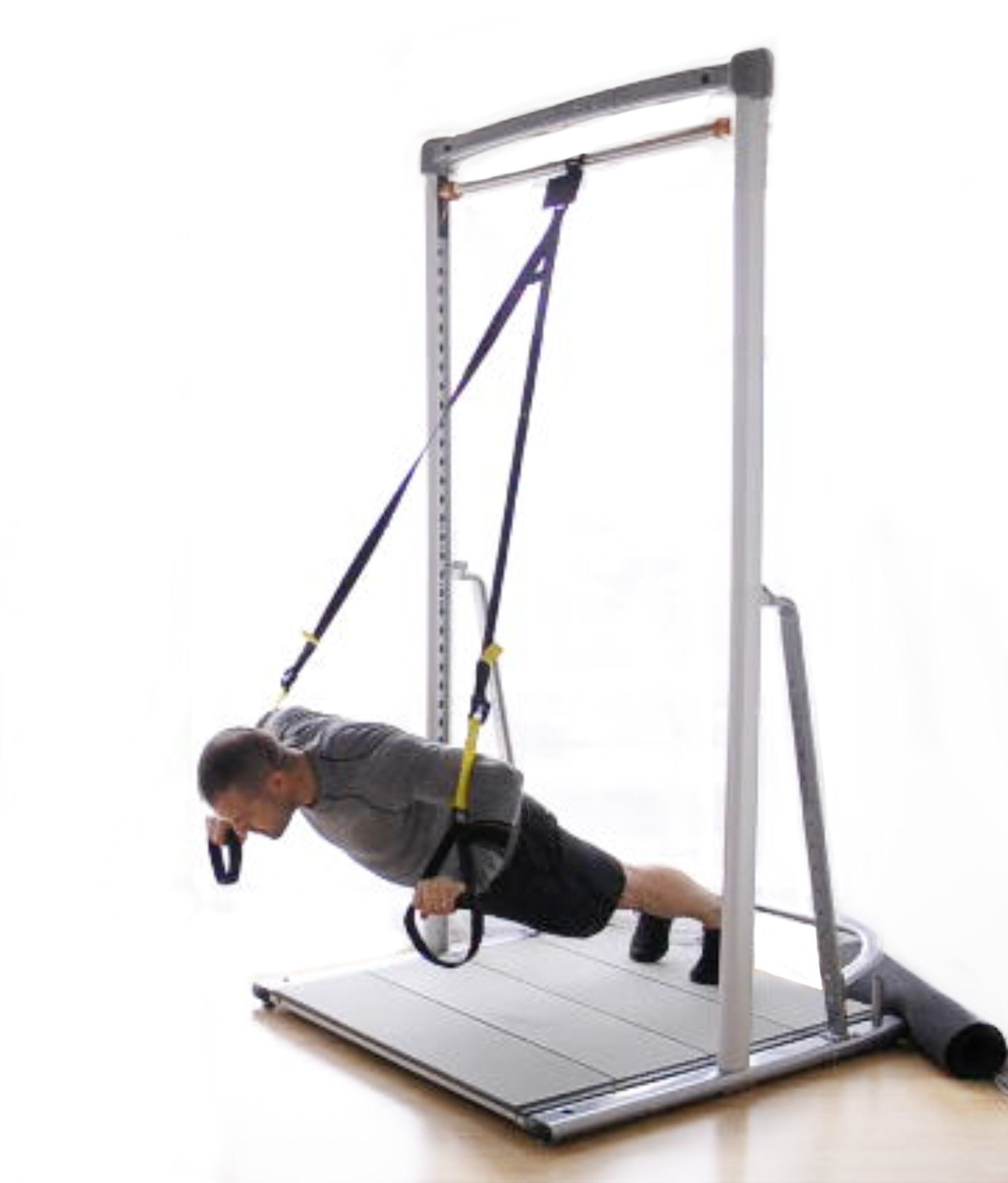 Free Standing Portable Pull Up Bar Stand Alone System Total Body