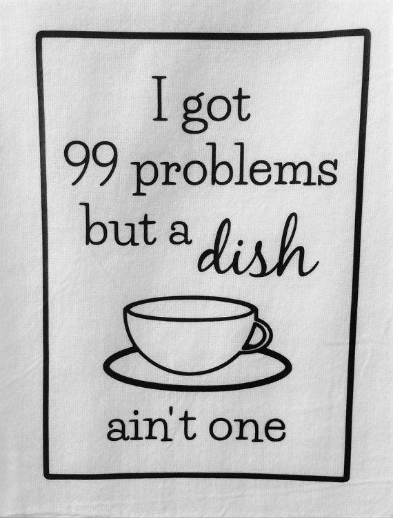 Funny Dish Towels Rap LyricsSongs Set of 3 Decorative Kitchen Tea
