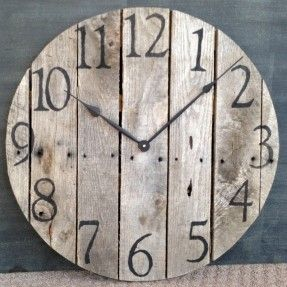 Large Rustic Pallet Wood Wall Clock. $100.00, Via Etsy. I Want This!