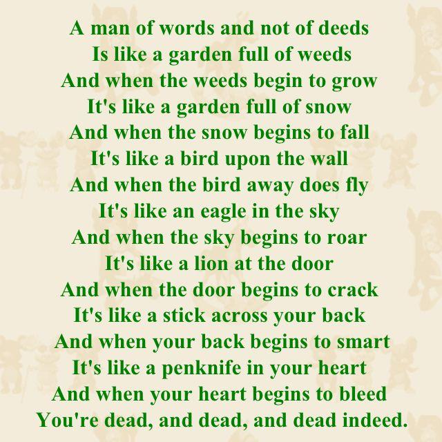 Creepy old nursery rhyme...I love it   Things that inspire ...