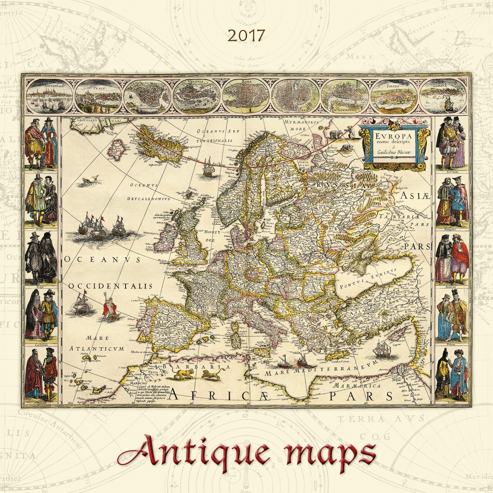 ANTIQUE MAPS х мм листов спираль Отпечатано в Европе - Antique maps amsterdam