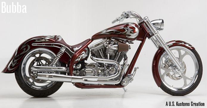 bubba, custom motorcycle by Charlie Montgomery of U.S