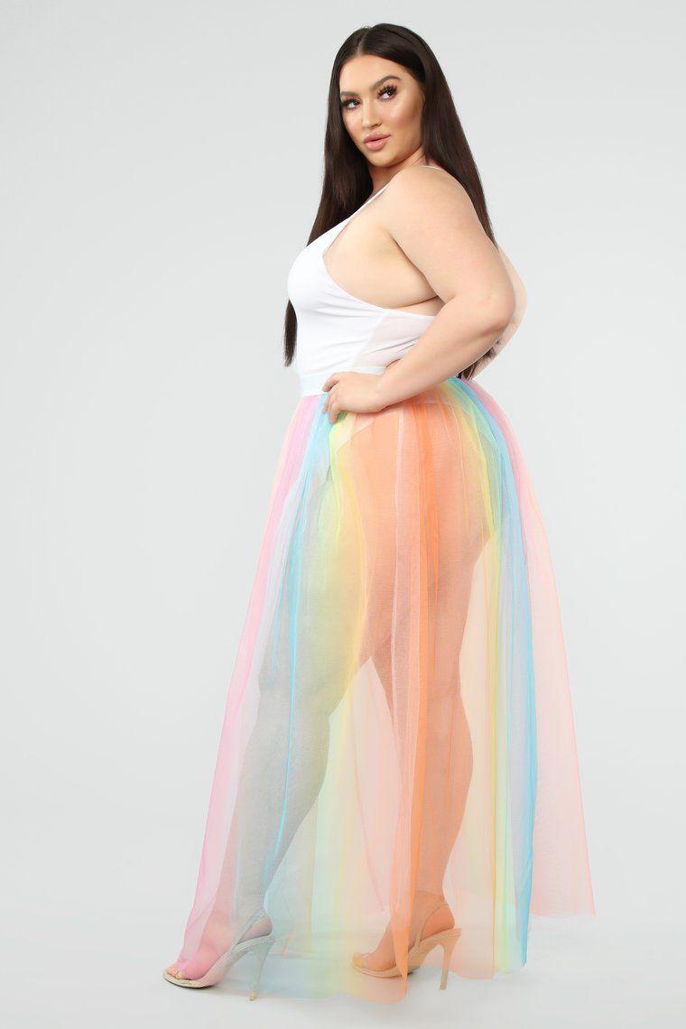 New Beginnings Tulle Skirt Rainbow Tulle skirt