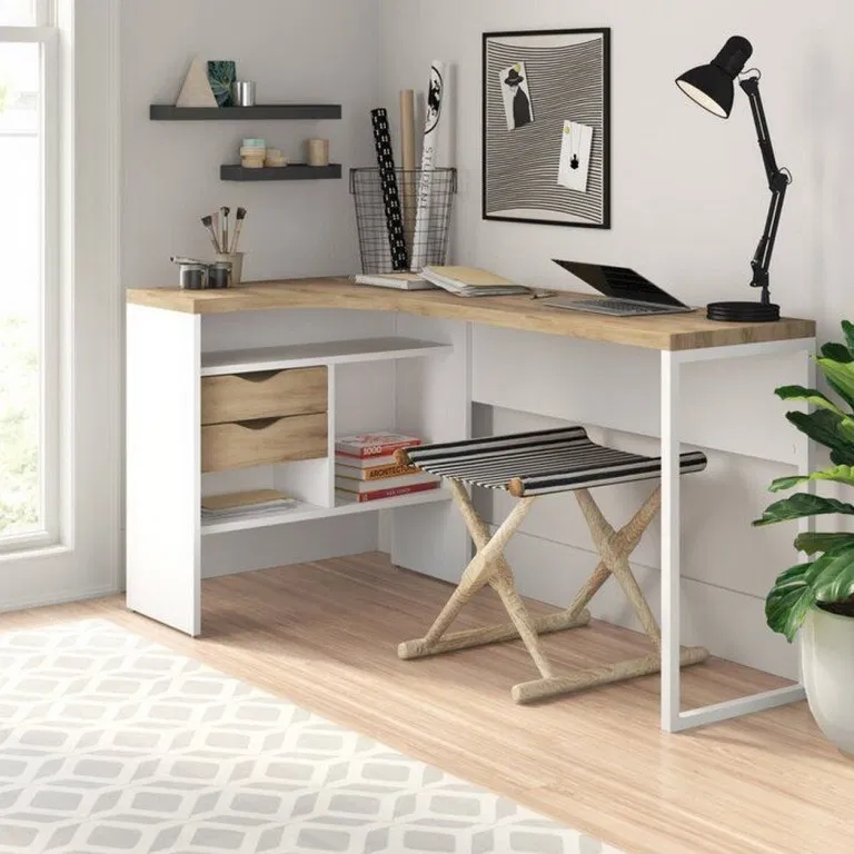 80 Ikea Hacks Home Office Studio Ideas 12 In 2020 L Shaped Desk