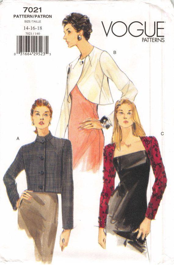 Size 14 16 18 Bust 36 38 40 Misses Loose Fit Jacket Pattern
