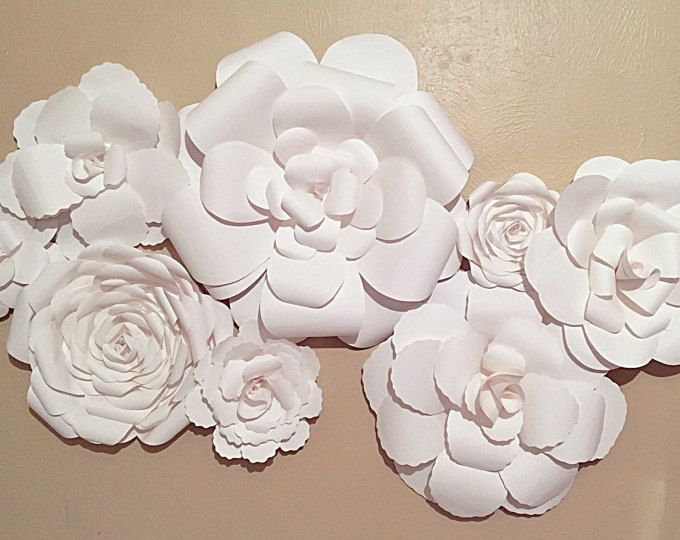 Wedding Reception Backdrop - Paper Flower Backdrop - Paper Flower ...