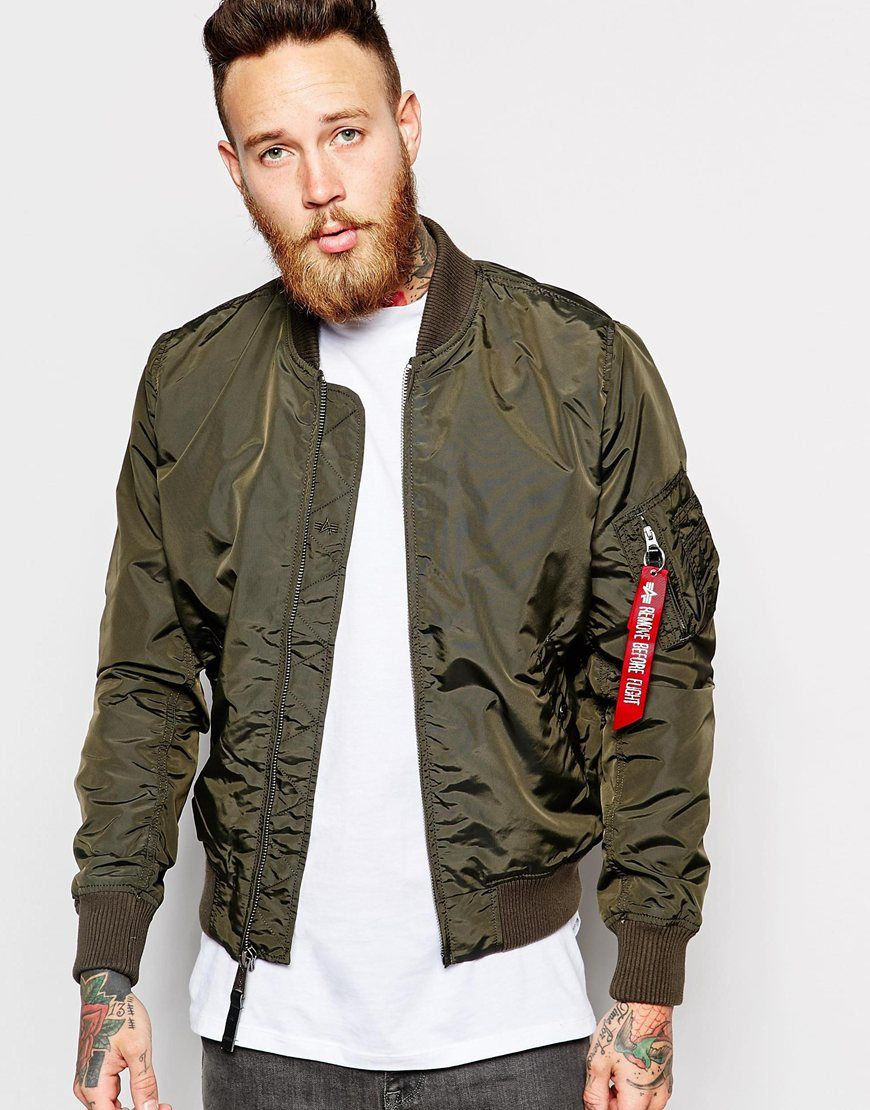 Images of Olive Bomber Jacket - Reikian