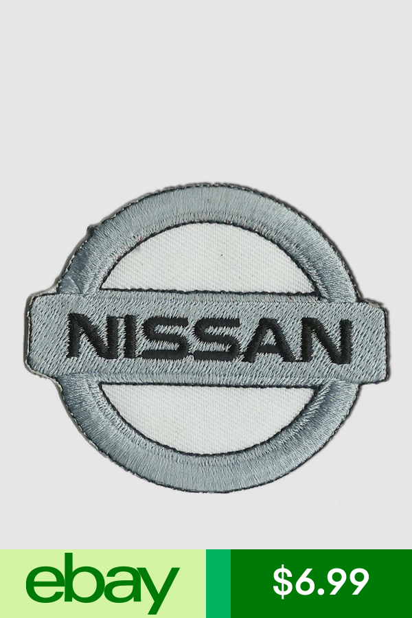 Nissan Logo White 2 5 X 3 Sew Ironed On Badge Embroidery Applique Patch Embroidery Applique Nissan Logo Applique Patch