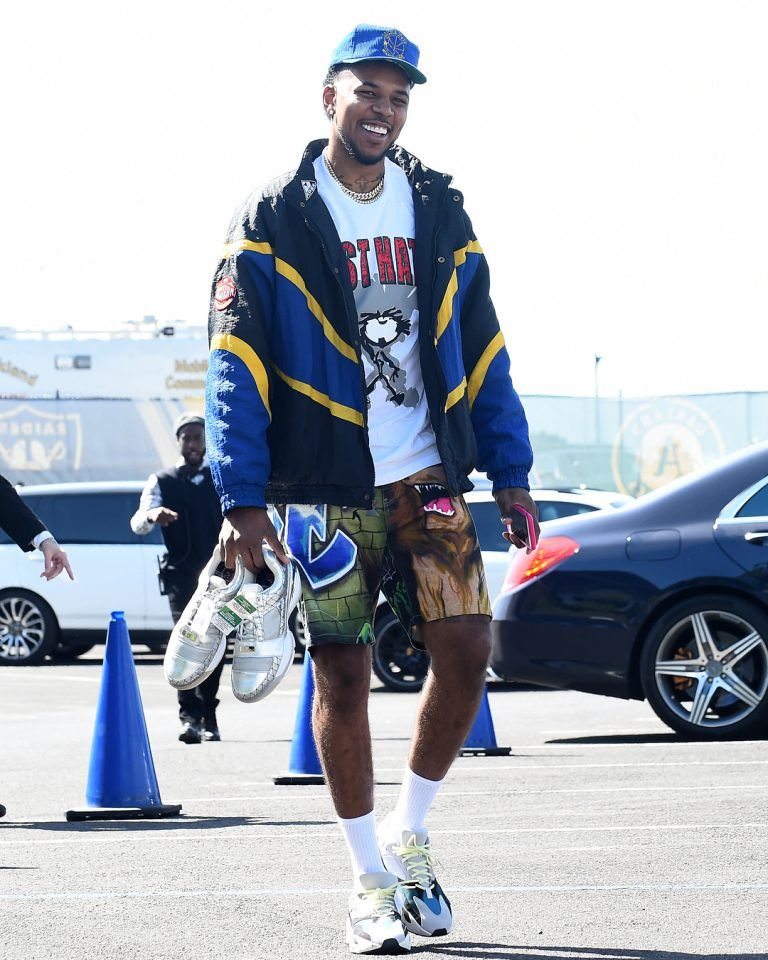 84edf56c66cc What s In Their Wardrobe  Nick Young Rocks Supreme Shorts
