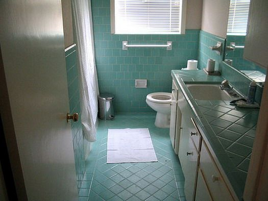 Blue Tiled Retro Bathroom Design Ideas Retro Bathrooms Blue