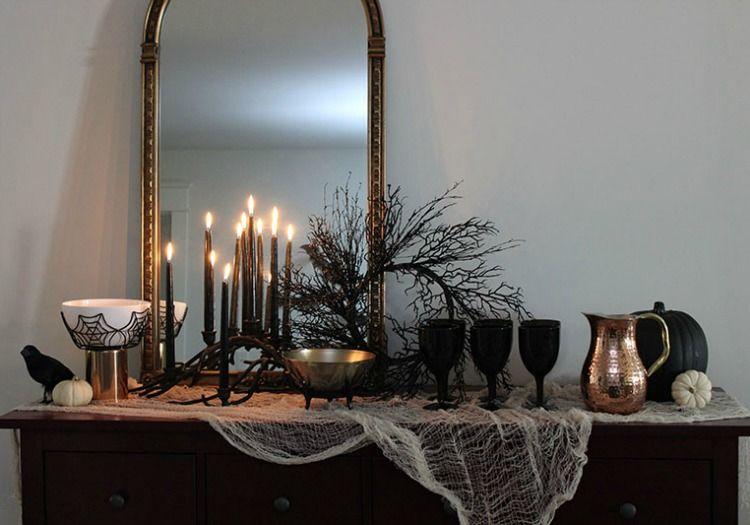 The White Buffalo Styling Co, Halloween Decor Ideas via House of - halloween house decorating ideas