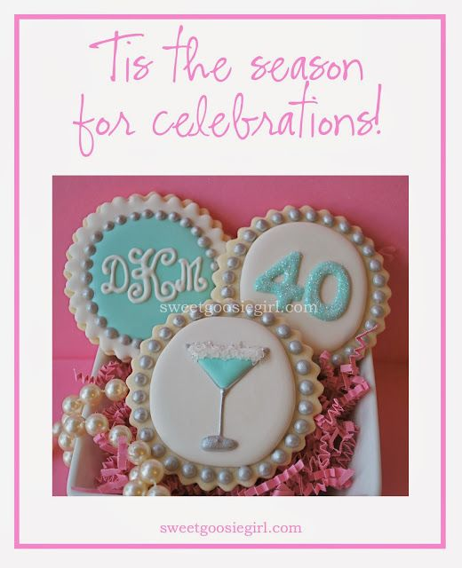 Sweet Goosie Girl Tiffany Blue 40th Birthday Cookies