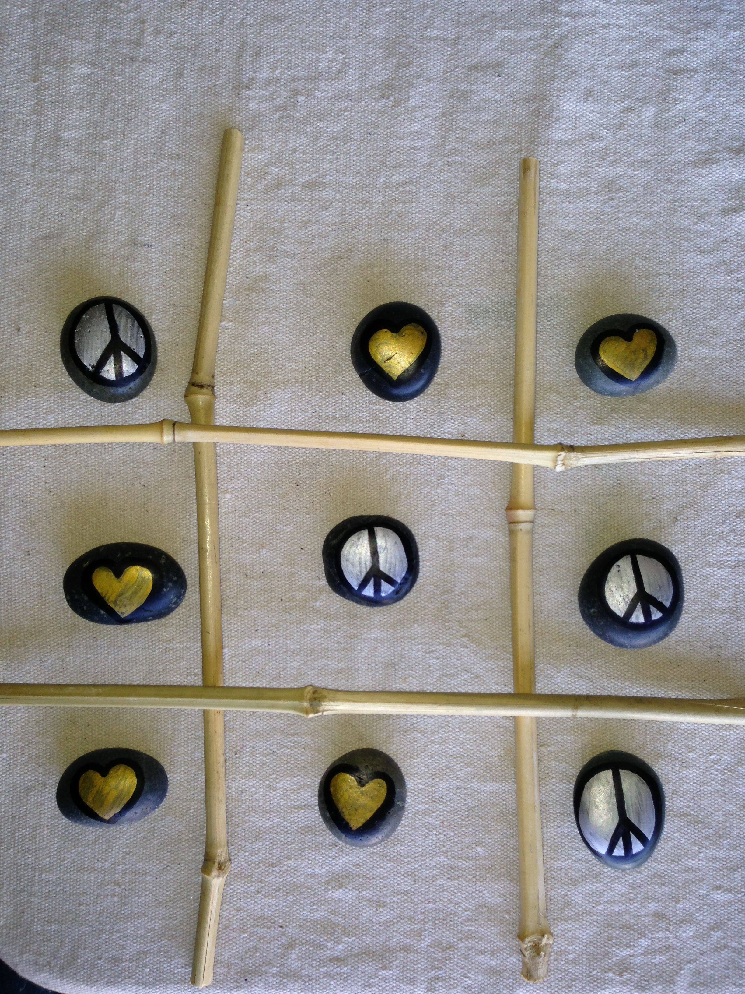 Peace and love stick tac toe SNS DESIGNS
