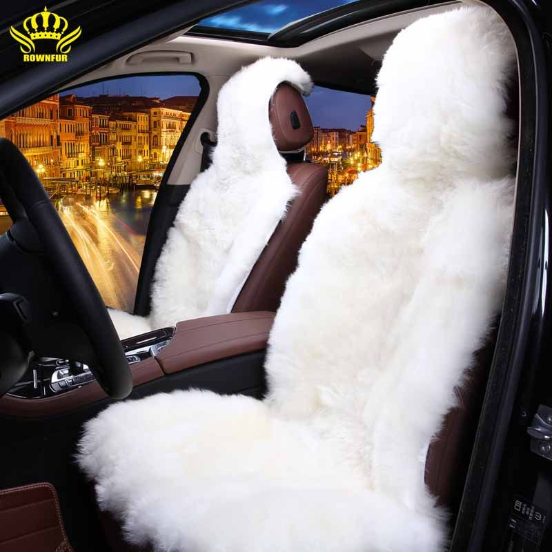 Rownfur 100 Natural Fur Australian Sheepskin Car Seat Covers Universal Size For Seat Cover Acc Sheepskin Car Seat Covers Car Accessories Girly Car Accessories