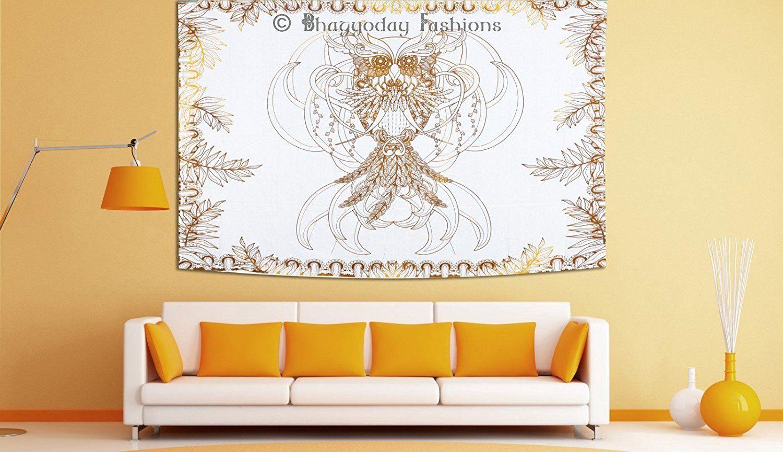 Bohemian Indian Owl Multi Mandala Tapestry Hippie Wall Hanging ...