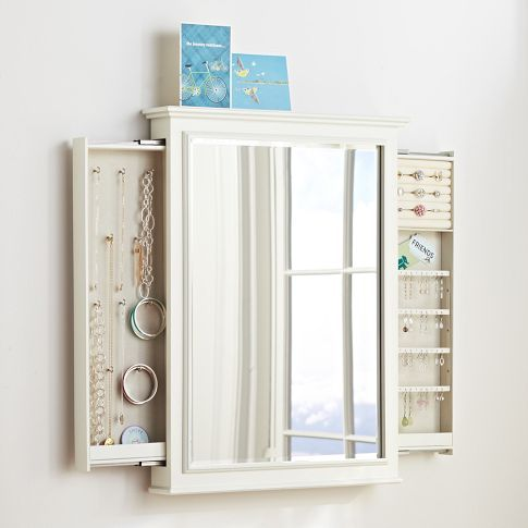 chelsea hidden wall jewelry storage home girl s bedroom rh pinterest com