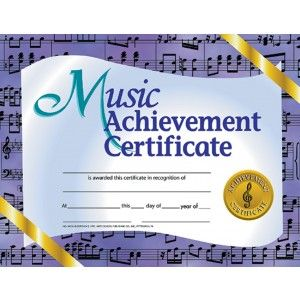 Music achievement certificate 30 pack downloadable templates music achievement certificate 30 pack downloadable templates available to personalize or can be handwritten yadclub Choice Image
