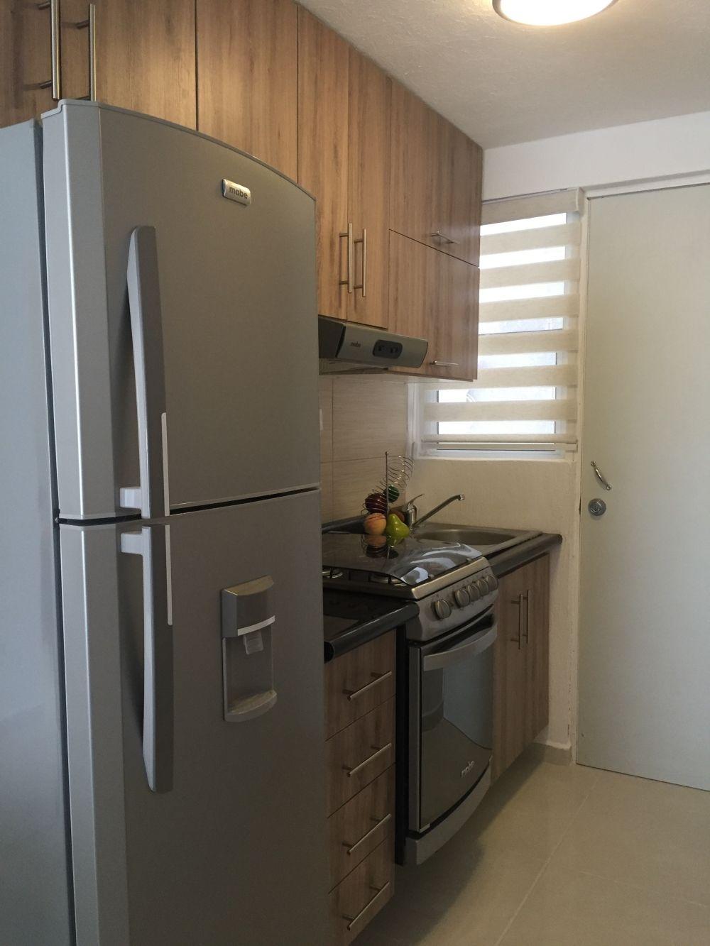 Exterior decoraci n de casas infonavit decoraci n de for Cocinas pequenas para apartamentos tipo estudio