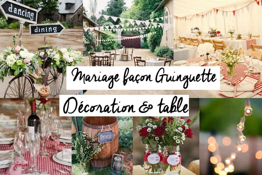 d coration fa on guinguette guinguette decoration retro vichy fanion mariage fa on. Black Bedroom Furniture Sets. Home Design Ideas