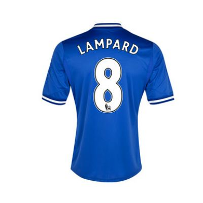 13-14 Chelsea #8 Lampard Blue Home Soccer Jersey Shirt