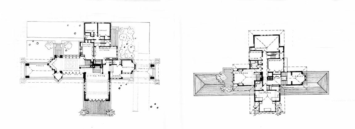 Floor Plan Of The Willits House Frank Lloyd Wright Highland Park Illinois 1901 Floor Plans Prairie School Lloyd Wright