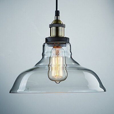 Breakwater Bay Russo 1 Light Single Dome Pendant Wayfair In 2020 Glass Pendant Light Hanging Light Fixtures Pendant Ceiling Lamp