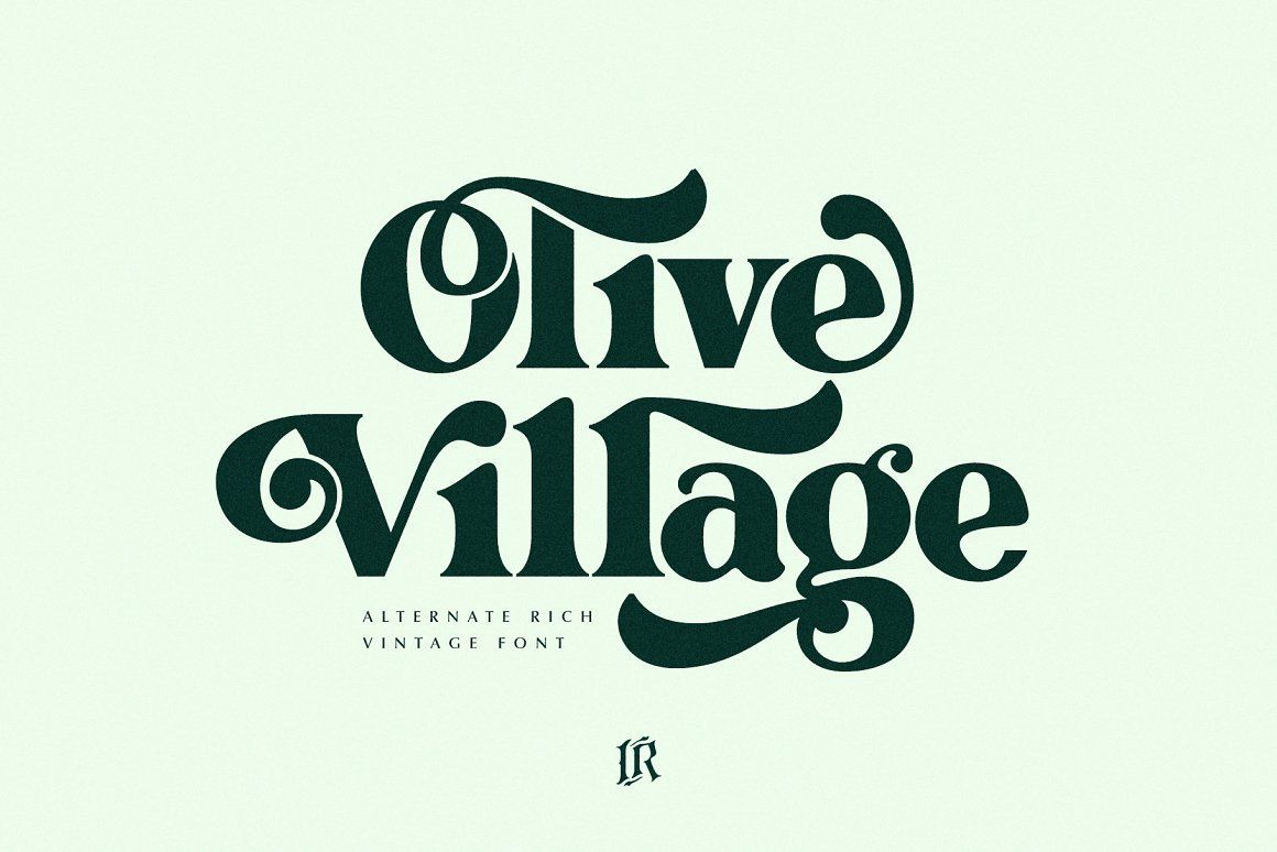 Olive Village Is A Stylish Vintage Font Inspired By 70 S Groovy Vibe With A Touch Of Modernity It Looks Amazing At Dis In 2020 Vintage Fonts Lettering Fonts Lettering