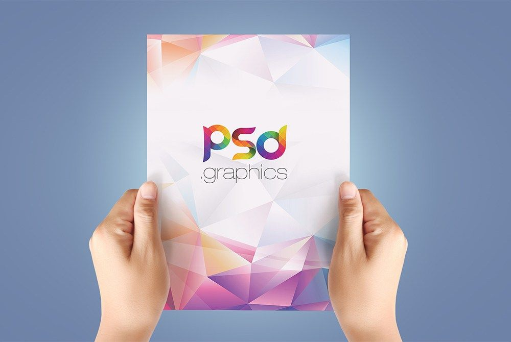 Awesome A4 Paper in Hand Mockup Free PSD Download A4 Paper in Hand
