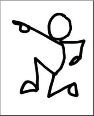 clip art stick guy charge b w stick figure illustration ngss rh pinterest co uk