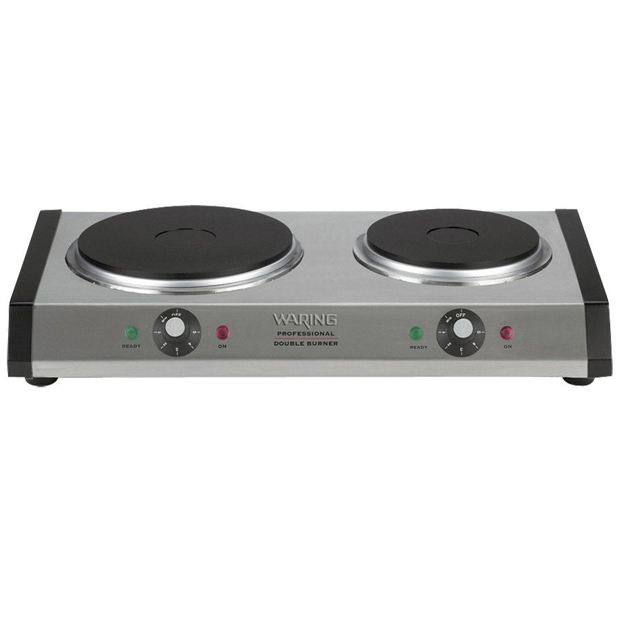 Waring Wdb600 Double Burner Solid Top Countertop Range 1800w