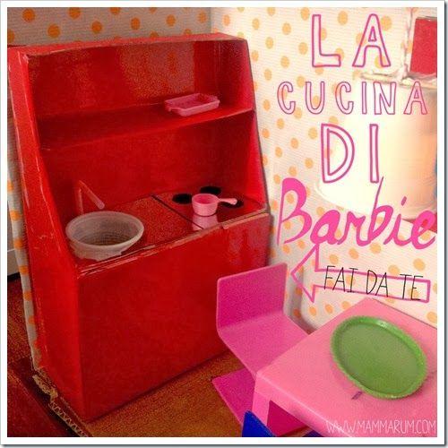 Giochi fai da te con il cartone: la cucina di Barbie (Mammarum