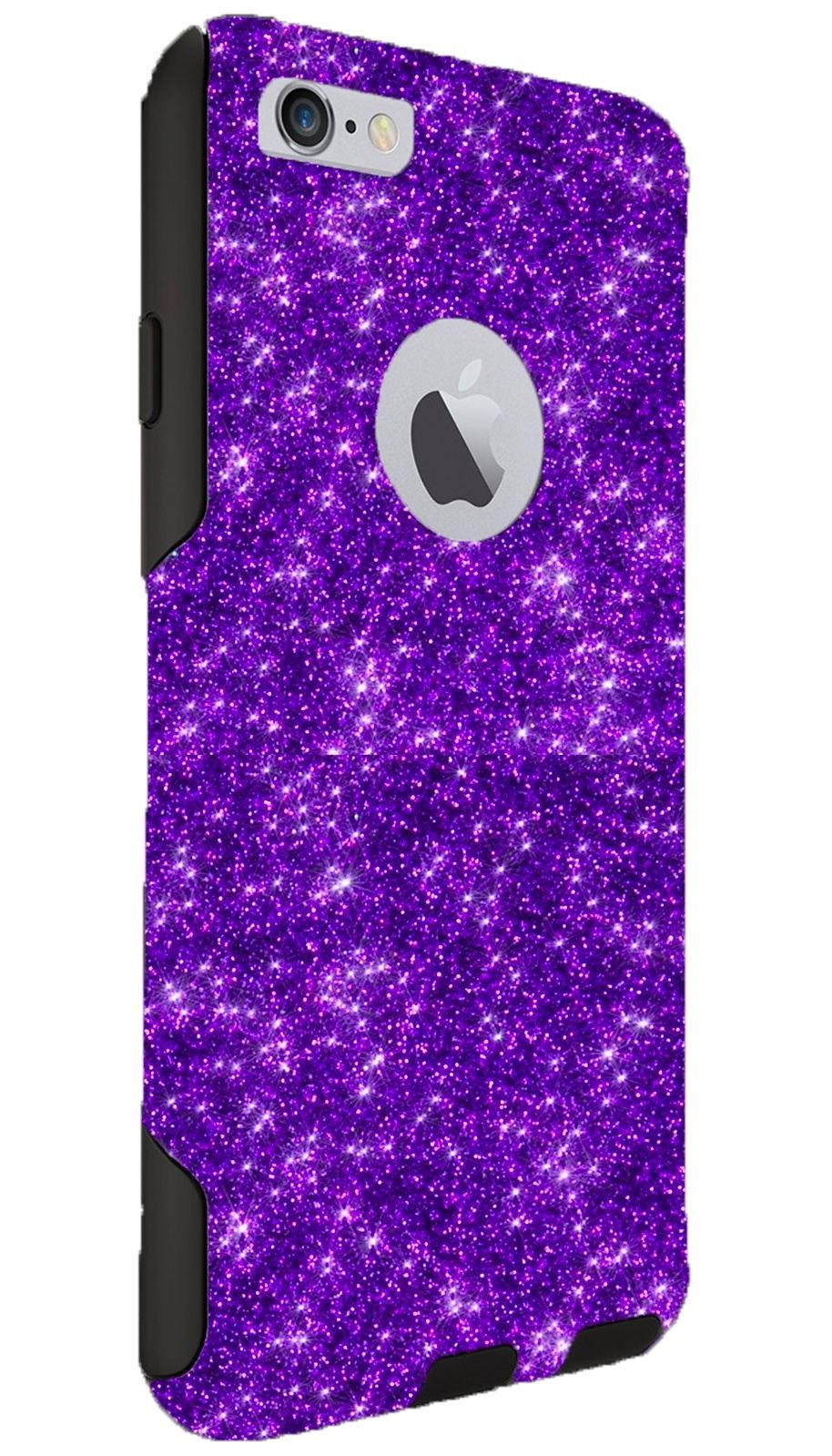 1535188a184 Otterbox Commuter Case Customized Glitter For Iphone 6/6S Plus Purple/Black
