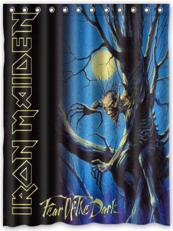 Nl301 Iron Maiden Fear Of The Dark Shower Curtain Bath 60 X 72