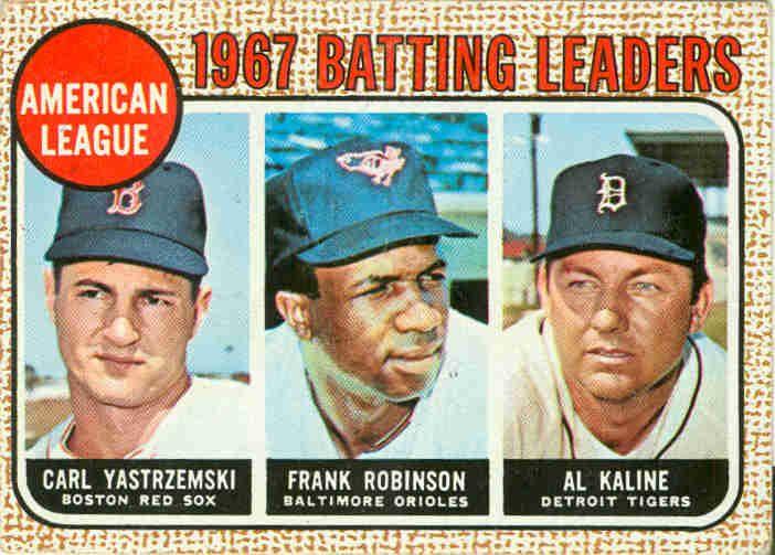 1968 Topps 1967 Al Batting Leaders 1968 Topps Baseball