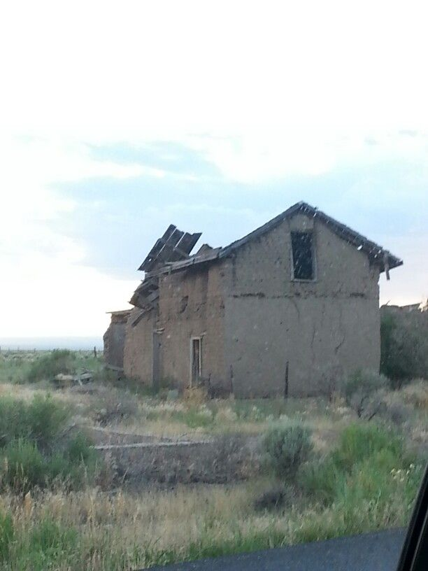 Only 2 Story Adobe House On Town Of Garcia Costilla County San Luis Colorado Adobe House Colorado Abandoned Buildings